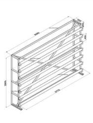 Стенд для линолеума 3,5 м х 7 рулонов односторонний