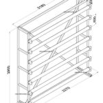 Стенд для линолеума 3 м х 7 рулонов односторонний