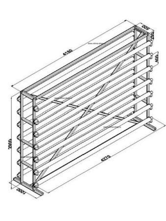 Стенд для линолеума 4 м х 14 рулонов двухсторонний